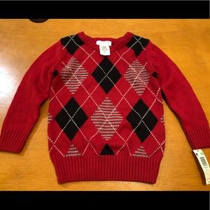 Other - Wonder Kids Sweater Red 3t Pull Over Holiday Red